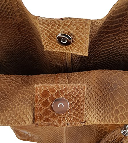 Made Snake Women's in Cognac Italy Bag Tote FreyFashion fqCZxwC