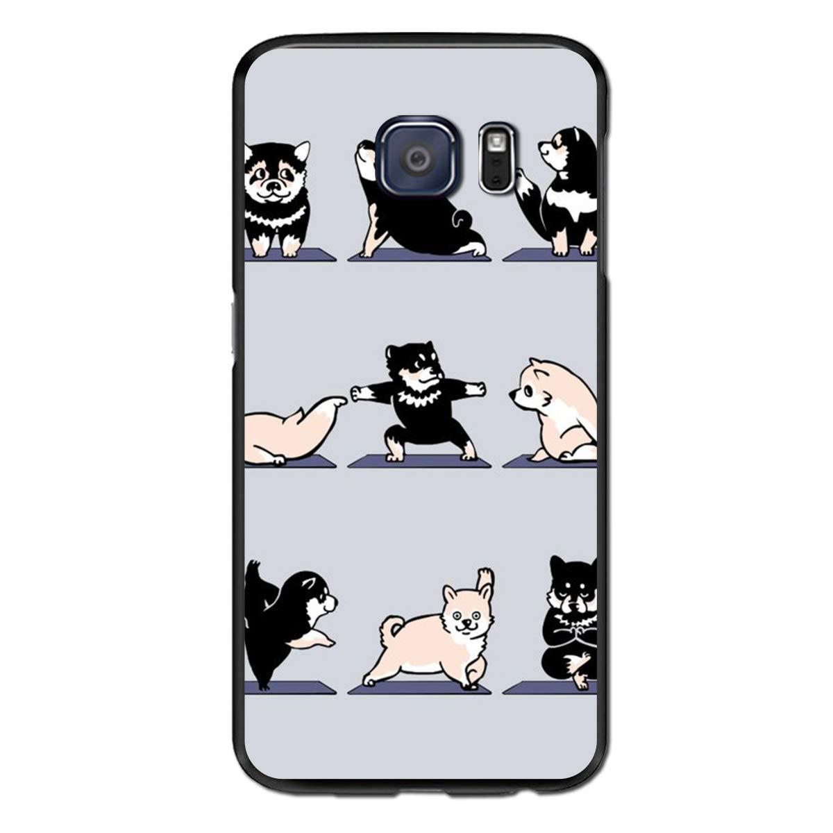 Amazon.com: S6 Edge Case Shiba Yoga - Case for Galaxy S6 ...