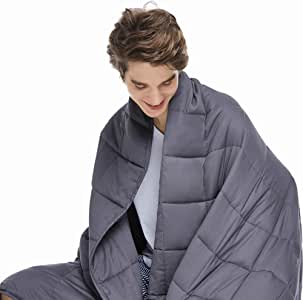 Amazon Com Zonli Cooling Weighted Blanket 15 Lbs 60 X80