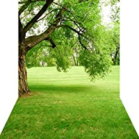 KonPon Big Trees Backdrop Lawn Vinyl Backdrops Photography Backdrop Photo Props Studio Background KP-044
