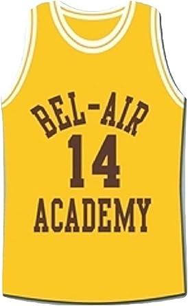 Smith Basketball Jersey #14 Bel Air Academy Stitched Mens Sport Jersey Yellow S-XXXL