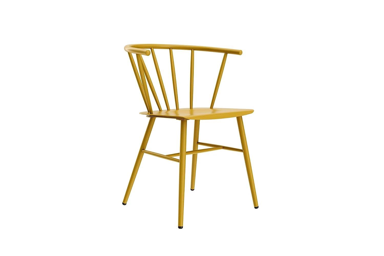 Novogratz Campbell Cottage Dining Chair, Metal Design, Black C022001N