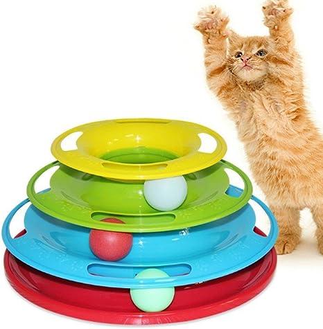Allouli gato juguete Tres Capa de tocadiscos juguete divertido ...