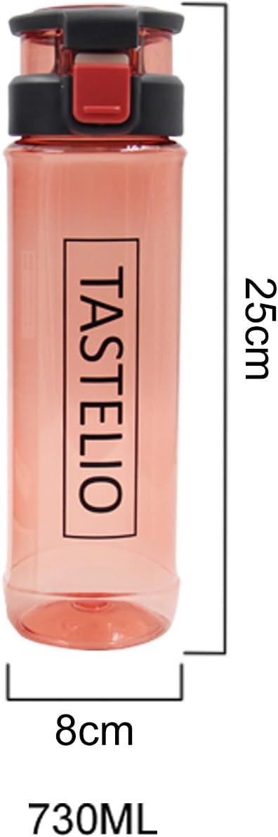 730ml sp/ülmaschinengeeignet TASTELIO 2er Set Trinkflasche BPA-frei aus Tritan mit Fruchtsieb f/ür Alltag Sport Freizeit Schule Reisen Sichere 1-klick-/Öffnung Auslaufsicher