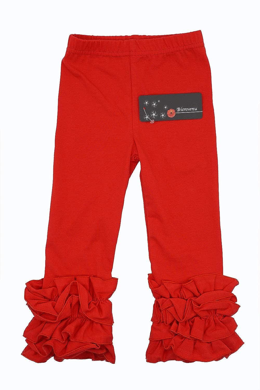Bienvenu Toddler Girls Summer Legging Ruffle Full Length Pants Jeggings Leggings