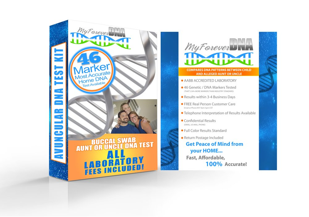 AVUNCULAR (Aunt or Uncle) At-Home Paternity Test Kit *MOST ADVANCED & ACCURATE TEST AVALIABLE, 46 MARKERS* Offered by My Forever DNA