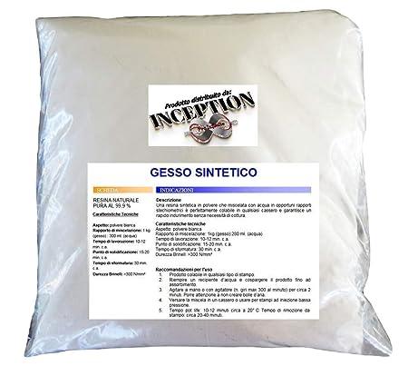 Inception Pro Infinite 1 kg del Mejor Yeso del Mercado - Yeso sintético - no tóxico - vertible - extraduro - Alta definición y Resistencia - Efecto ...