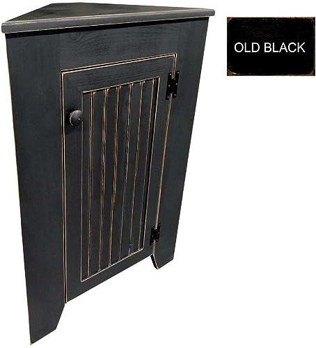 Sawdust City Kitchen Corner Cabinet Old Black