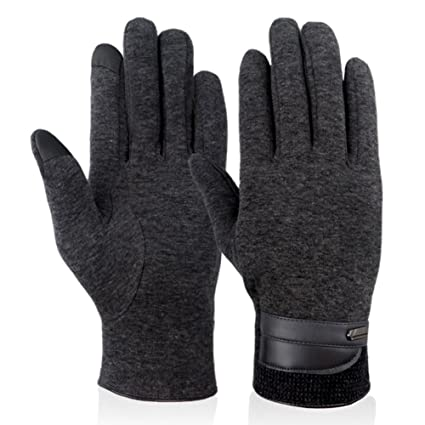 6cf7be315 Qshell Mens Fashion Winter Cold Weather Gloves Touch Screen Gloves Texting Gloves  Mittens Thick Warm Soft