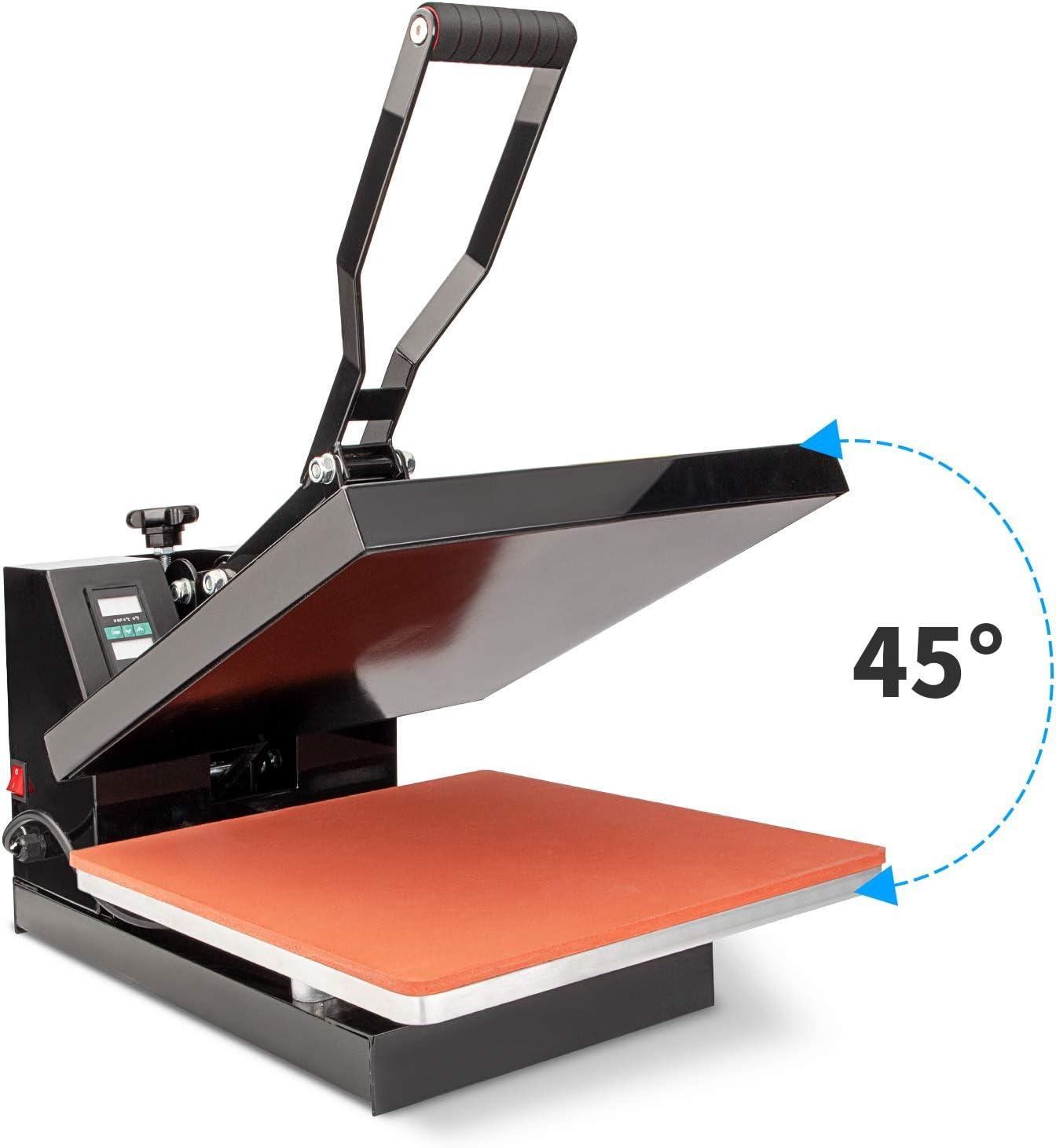 Heat Press Machine 15x15 inch 8 in 1 T-Shirt Digital Printing Transfer Sublimation Machine 1100W with Clothes Hat//Cap Plate Press Mug Press
