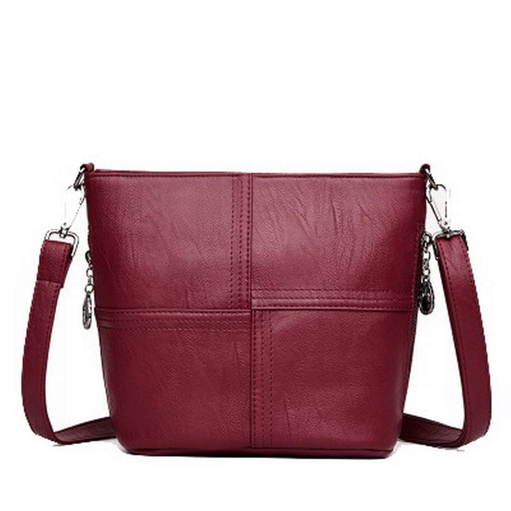 Claret WeiPoot Women's Casual Zippers Pu Bags Crossbody Bags,EGHBG212850