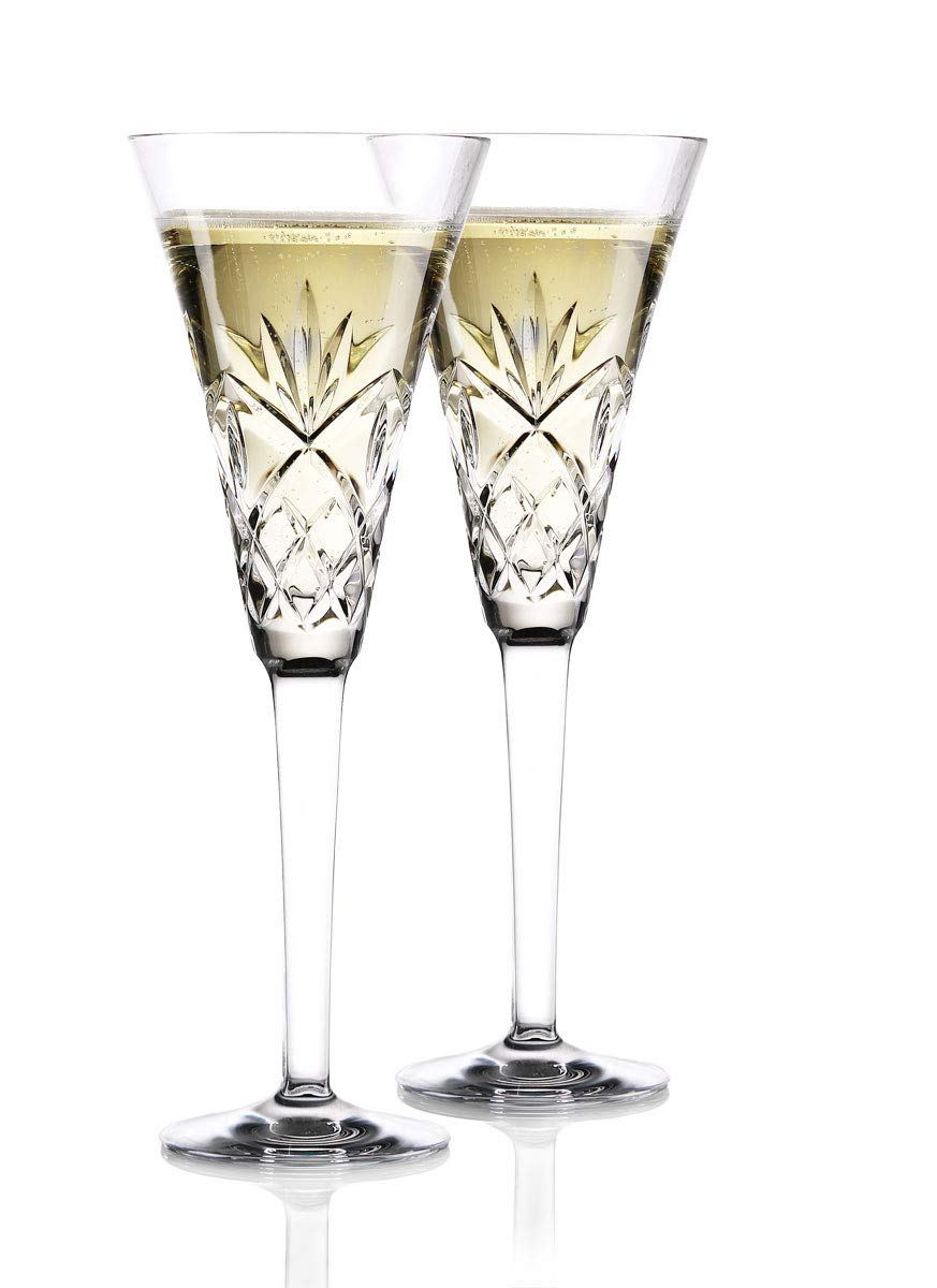 Waterford Crystal Huntley Wedding Toasting Champagne Flutes, Pair
