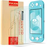 [3-Pack] PULEN for Nintendo Switch Lite Screen Protector Tempered Glass (2019),HD Clear Anti-Scratch Bubble Free 9H Hardness Tempered Glass