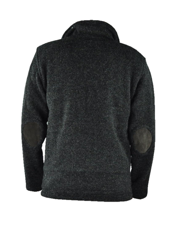 bonzaai lined jacket snowboard woolen sweater pullover fleece hooded jacket wool jackets Kabru anthrazit-M