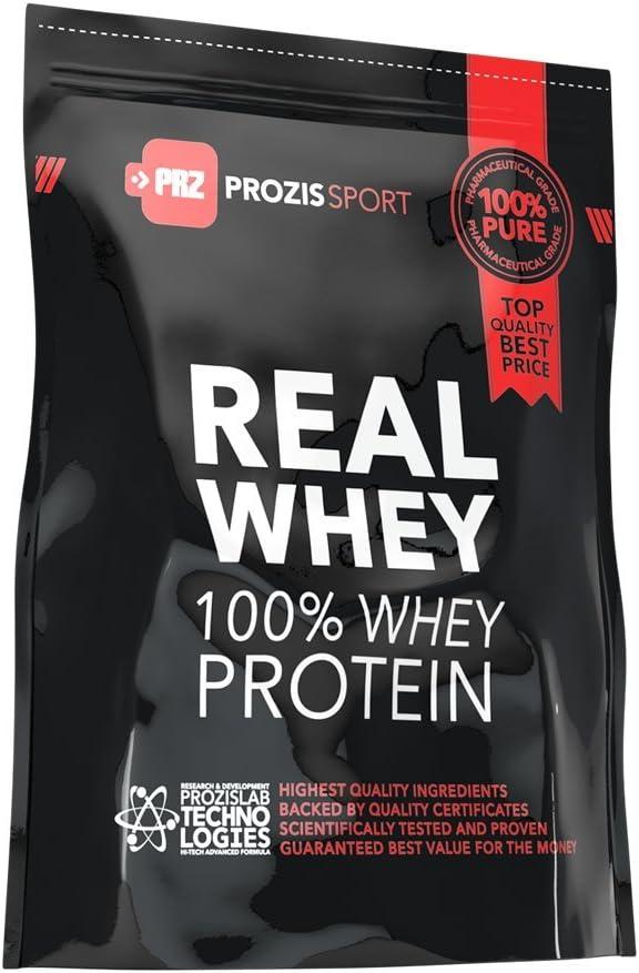 Prozis Sport 100% Real Whey Protein, Suplemento de Proteínas, Sabor a Pudin de Caramelo - 625 gramos
