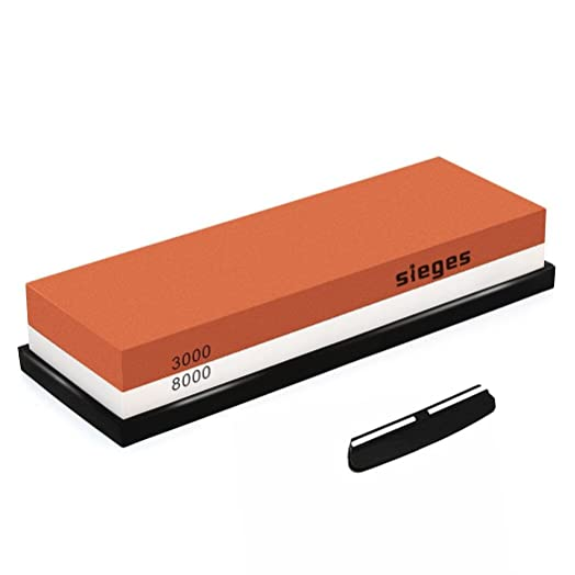 Sharpening Stone SIEGES Whetstone 3000 8000 Grit Combination Waterstone Knife Sharpener Grindstone With Non