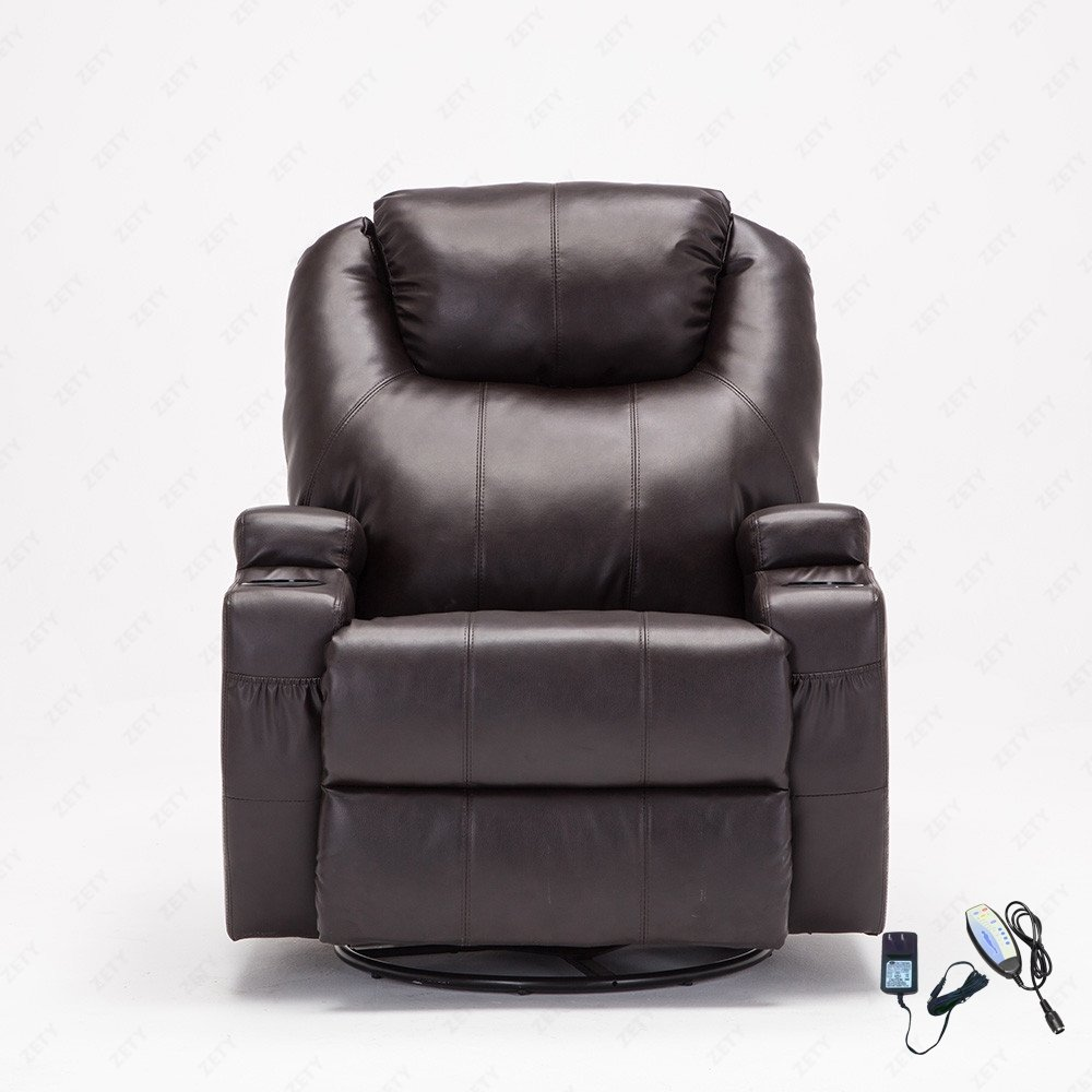 Amazoncom RECLINER GENIUS  Degree Swivel Massage Recliner - Leaky faucet bathroolearn leather dining room chairs on sale