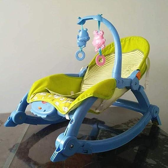 126cd4e47 GZ Aby Silla Mecedora, Cuna Reclinable Cuna Bebé Recién Nacido Bebé  Multifunción Coaxial Muñeca Artefacto Descarga Eléctrica Calmante,Azul,1:  Amazon.es: ...