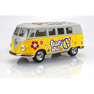 1962 Volkswagen Classic Bus with Decals 1/32 scale Die Cast Model Toy Car - YELLOW: Everything Else