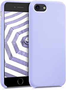 kwmobile TPU Silicone Case Compatible with Apple iPhone 7/8 / SE (2020) - Soft Flexible Rubber Protective Cover - Lavender