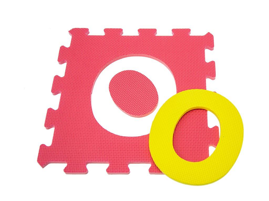 Teorema tappeto puzzle con lettere pezzi colori e