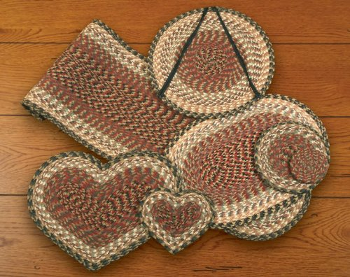 Earth Rugs Heart Trivet, 8 x 7