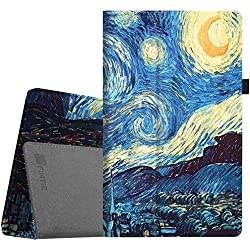"""Fintie Folio Case for All-New Amazon Fire HD 10 Tablet (7th Generation, 2017 Release) - Premium PU Leather Slim Fit Smart Stand Cover with Auto Wake / Sleep for Fire HD 10.1"""" Tablet, Starry Night"""