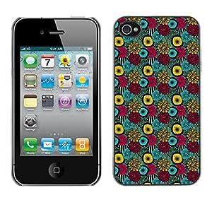 ZECASE Funda Carcasa Tapa Case Cover Para Apple iPhone 4 / 4S No.0000439