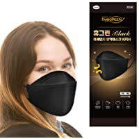 [10Pack] [Black, hueGREEN] - KF94 SAFETY FACE MASK ; Premium 4Layer Filters Safety Mask for Protection from Fine Dust…