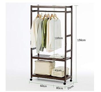 kleiderablage Natürlicher Bambuskleiderschrank, Einfache ...