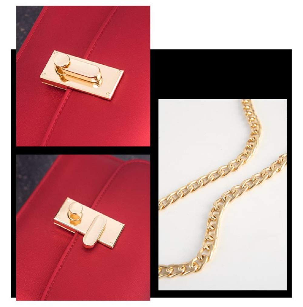 LF-JP PVC Evening bags for women [ Designer Clutch with Chain ] Shoulder Bag Cross body Purse (Red) by LF-JP (Image #4)