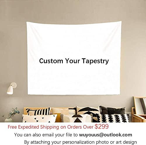 Daddy Baby Custom Tapestry Wall Art with Images and Text Print, Custom Tapestry for Family Friends Pets, Suitable for Decor Living Room Bedroom Birthday Wedding Events