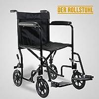 UEnjoy Medical Rollstuhl Klappbar Faltbar Leicht Transportrollstuhl Faltrollstuhl Reiserollstuhl Sicher & Stabil