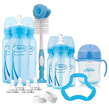 Amazon.com : Dr Browns Options Baby Bottles Gift Set - Blue : Baby