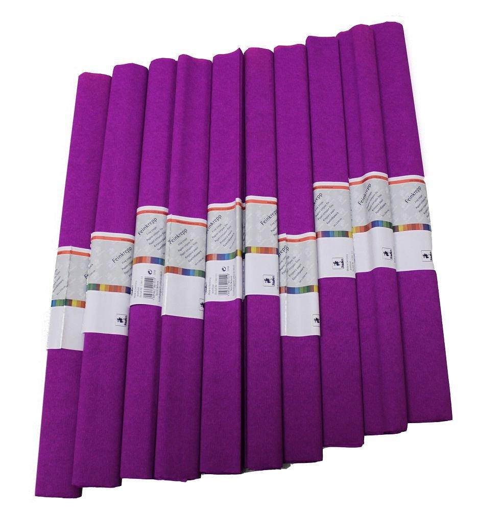 Krepp Papier 50 x 250 cm, verschiedene Farben(lila), 1 Stueck (10 Rolle) Staufen 12061151 617146