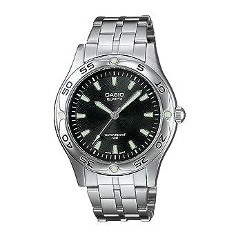 45604bf12e75 Casio MTP1243D1A - Reloj de Caballero metálico Negro  Amazon.es  Relojes