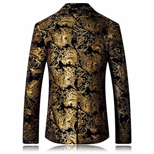 Hommes Or Pour Fleur Lenfesh D'or Veste Costume Premium Slim Fit De Blazer P4z4Tq5v