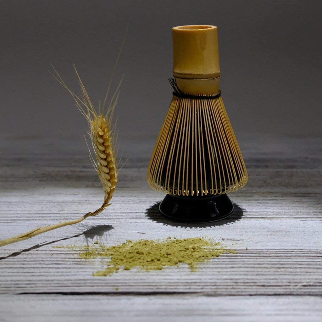 Matcha Green Tea Whisk Set Black Bamboo Whisk Black Bamboo Scoop ...