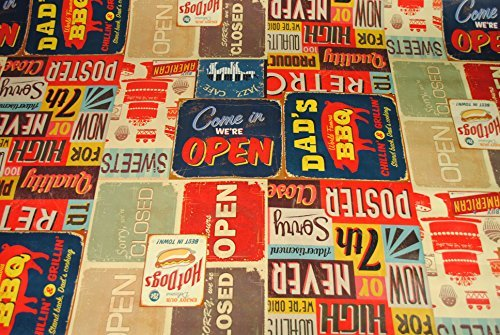 New American Diner PVC Oilcloth Tablecloth 160cm x 140cm by Karina Home