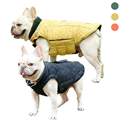 Pet Jacket Warm Pet Clothes Retro Design Vest Warm Pet Clothes for Small  Medium Large Dogs with Reflective Stripes