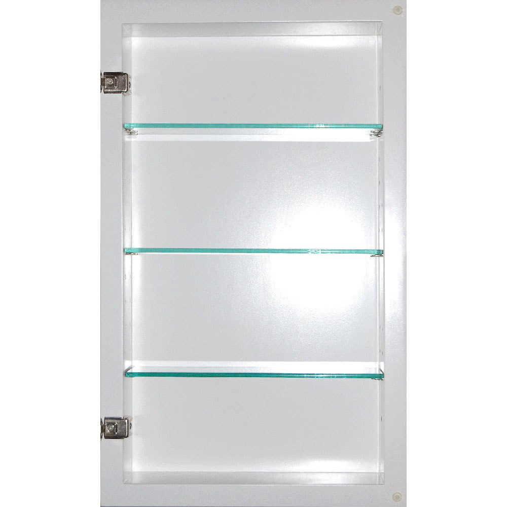 14x24 Cinnamon Concealed Medicine Cabinet (Extra Large), a Recessed Mirrorless Medicine Cabinet with a Picture Frame Door
