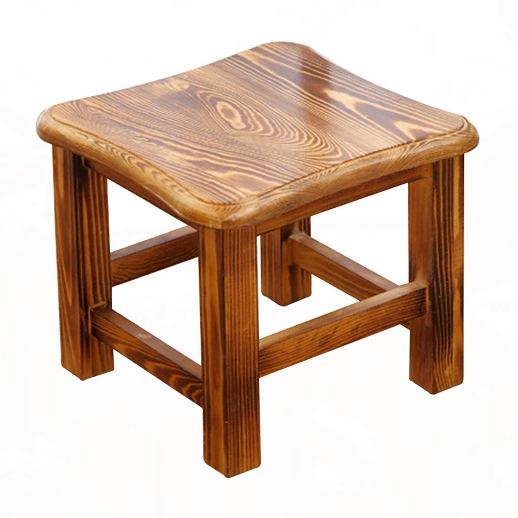 Stool - shoe bench, household solid wood coffee table stool, adult small square stool/low stool 29.529.525.5cm (Color : A)