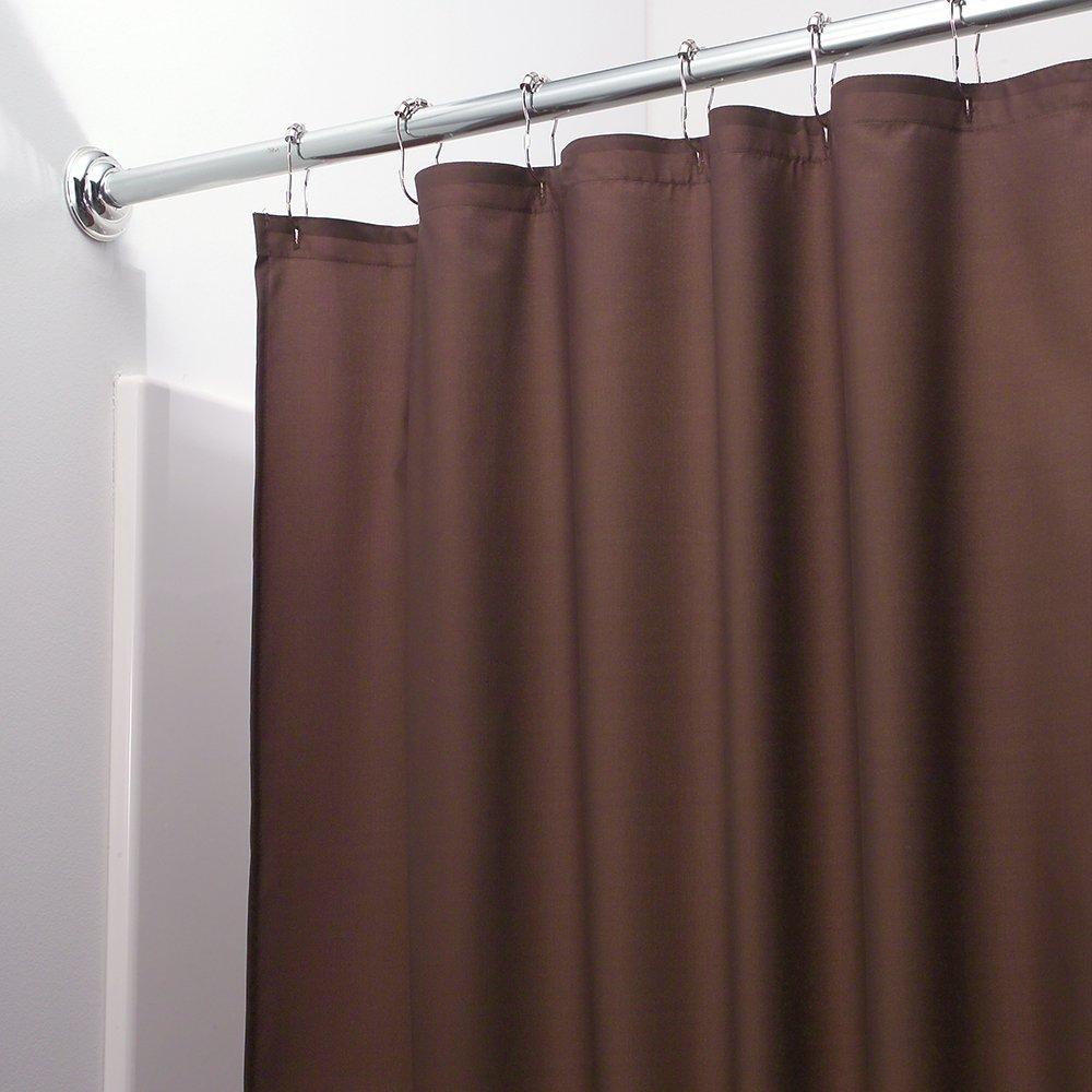 Amazon.com: InterDesign Mildew-Free Water-Repellent Fabric Shower ...