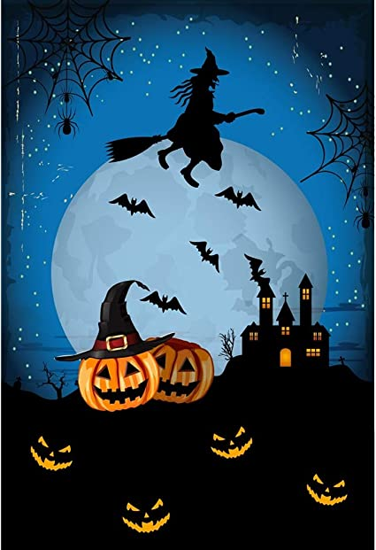 Yongfoto 2x3m Fotografie Hintergrund Halloween Kürbisse Kamera