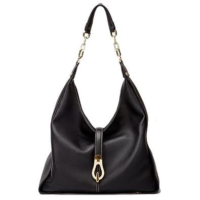 42063d47d737 Amazon.com  Women Genuine Leather Hobos Bags Soft Totes Designer Shoulder  Handbags Satchels Full Grain Cowhide  Shoes