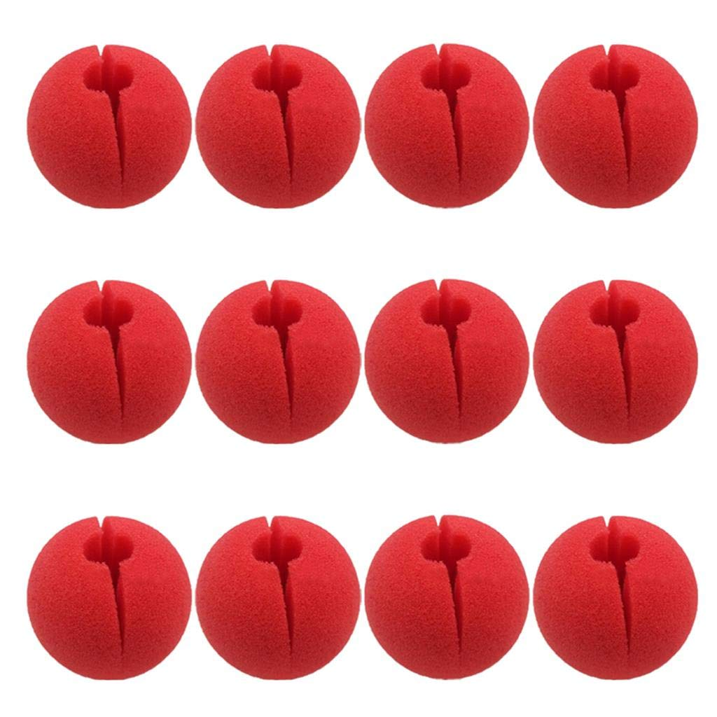 Activity Trick Toys Red Nose Day Halloween Cosplay /& More LONG7INES 12Pcs Red Foam Nose Circus Clown Nose Novelty Clown Nose Value Pack for Circus Costume Party