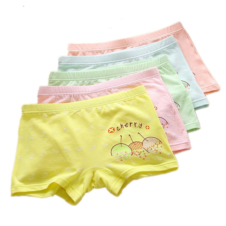 Big Girl's Boyshorts Cartoon Underwear Panties(Pack Of 5)