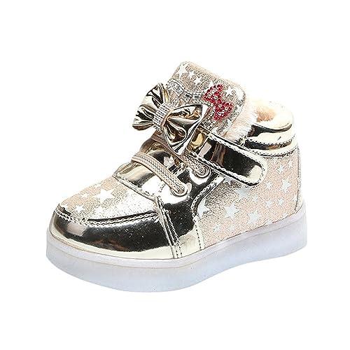 Zapatillas Niña, ❤ Zolimx Recién Nacidos de Moda Bebé Zapatillas Estrella Luminosa Niño Casual Zapatos Ligeros Coloridos: Amazon.es: Zapatos y ...