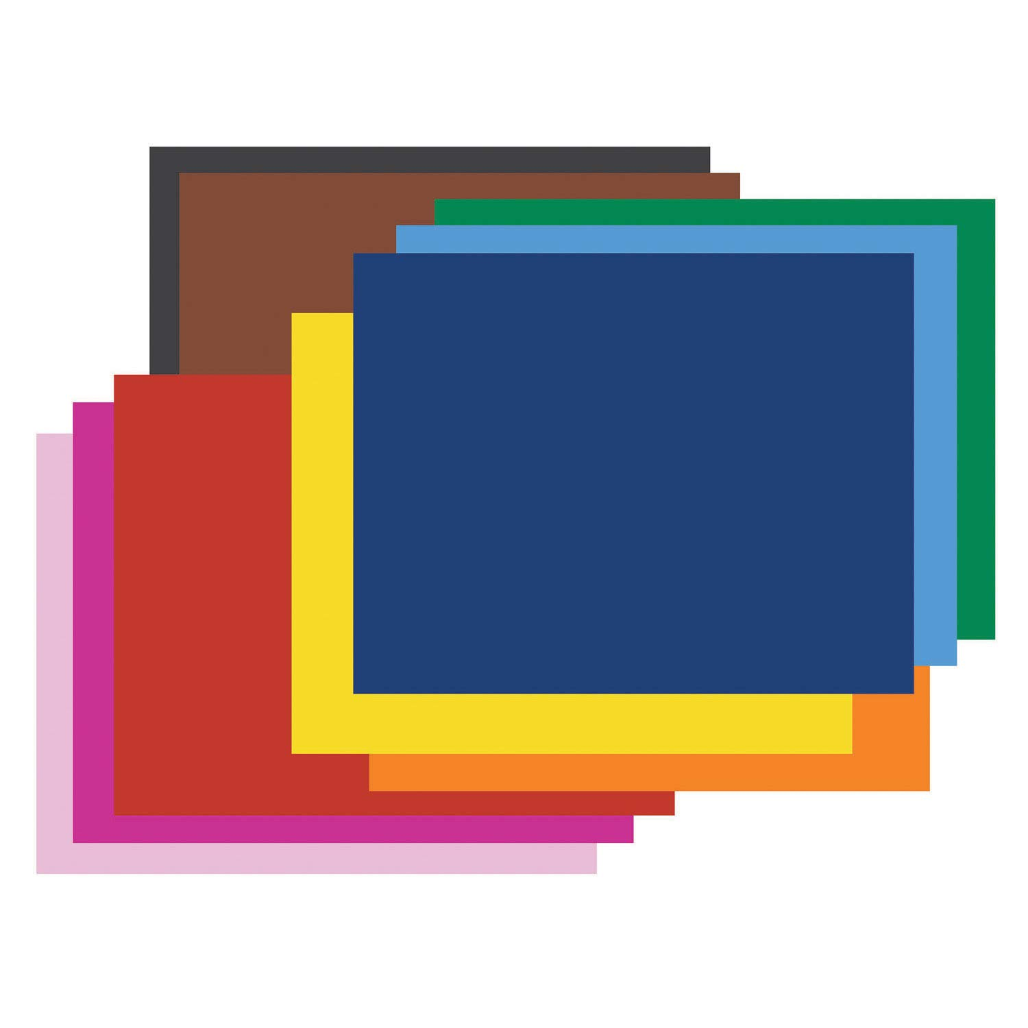 Pacon PAC54871 4-Ply Railroad Board, 10 Assorted Colors, 22'' x 28'', 25 Sheets by PACON