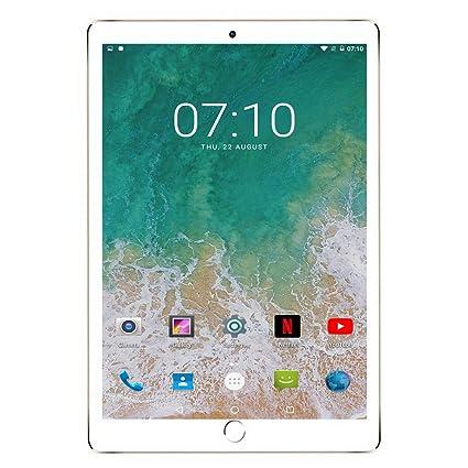 Tablet 10 Pulgadas 3GB+32GB, Octa Core,Android 7.0, Dual SIM, 3G Tableta de función de Llamada , Batería de 8000 mAh, WiFi/ Bluetooth/GPS/OTG, V ...
